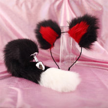 Adult Erotic Accessories Metal Tail Anal Butt Plug Fur Fox Sex Toys Woman Animal Cosplay Tail Sex Stainless Steel Anus Plugs Hot(China)