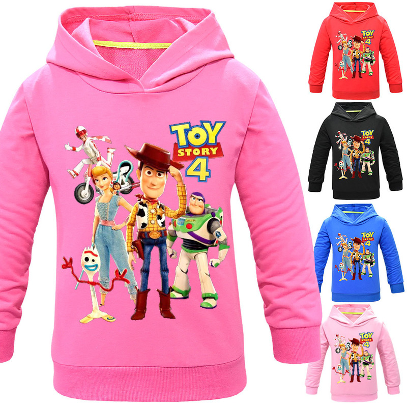 Kids Boy Hoodie Sweatshirts Tops Toy-Story Thanksgiving Long-Sleeve Girls Children 3-11Y