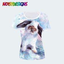 NOISYDESIGNS Harajuku 3D Bunny Rabbit T Shirt Women Clothes Kawaii Tshirt for Tops Tees Female T-shirt Girls Femme Custom