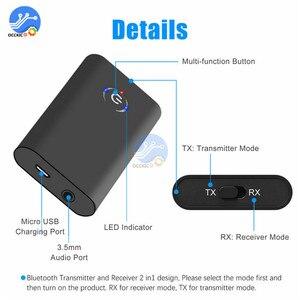 Image 2 - Bluetooth 5,0 Sender Empfänger Wireless Audio Adapter 2 in 1 A2DP 3,5mm Jack Aux Bluetooth Adapter Für PC TV kopfhörer Auto