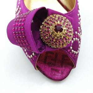 Image 4 - Cor verde sapatos africanos e saco conjunto de correspondência com pedras sapatos femininos design italiano sapatos e bolsa conjunto para festa de casamento