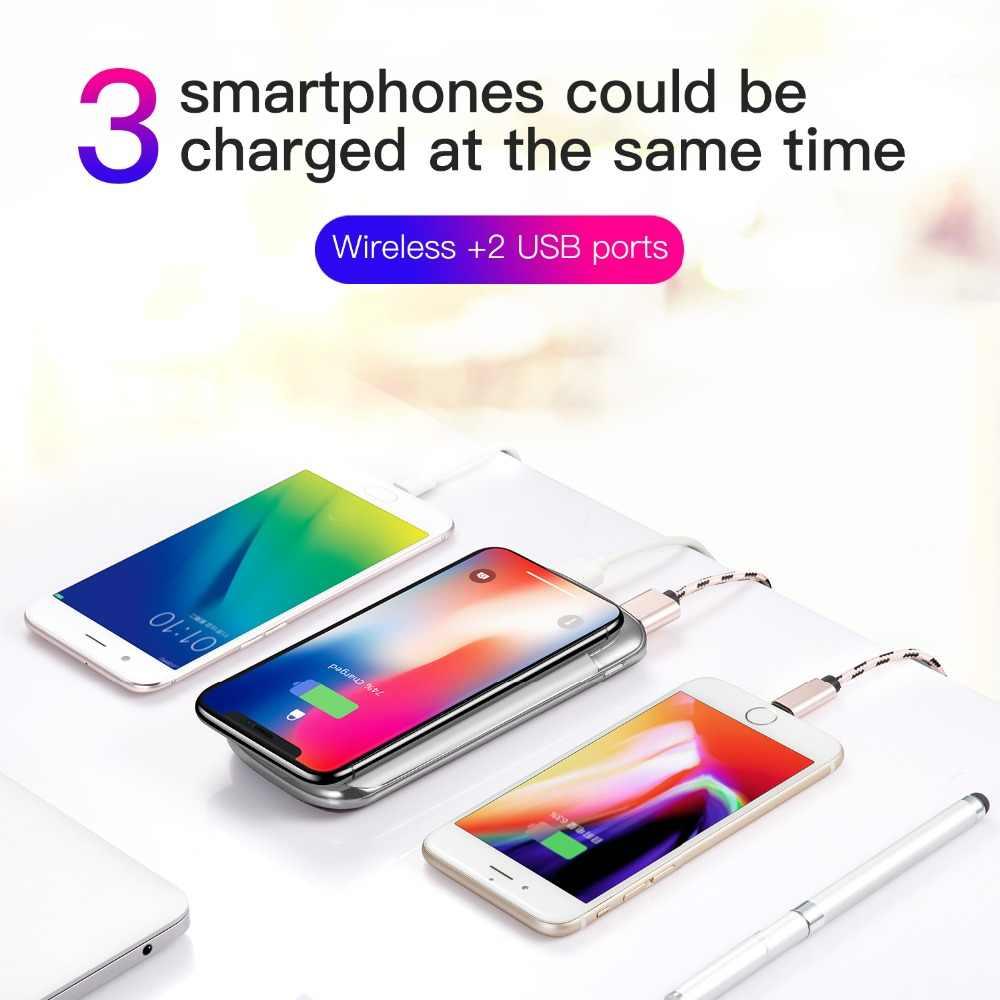 30000mah כוח בנק חיצוני סוללה בנק מובנה אלחוטי מטען Powerbank נייד צ 'י אלחוטי מטען עבור iPhone 7 סמסונג