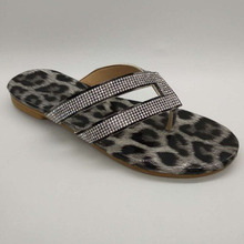 fashion Women Sandals ladies summer Leopard print shoes crystal sandals Flat Sandals sandalias summer shoes  zapatos de mujer