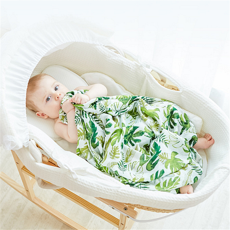 2 pcs /set Muslin Tree Baby Blanket Muslin Swaddle Wraps Cotton Bamboo Baby Blankets Newborn Bamboo Muslin Blankets 100x110cm