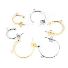 6pcs Stainless Steel C-shaped Ear Hook Earring Pendant Earrings Accessories Ear Pin DIY Handmade Earring Jewelry Making Findings