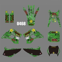 motorcycle accessories For KAWASAKI KDX200 KDX220 1995-2008 Graphics Decals Stickers Custom Number Name 3M Full  Motorcycle Backgrounds Accessories (1)