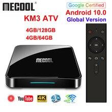 Certificato Google Androidtv 10.0 MECOOL KM3 ATV 4GB 64GB KM9 PRO TV Box Android 10 Android 9.0 Amlogic S905X2 4K Dual Wifi BT4.0