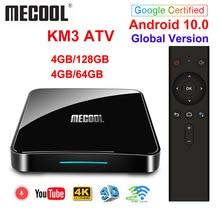 Google certifié Androidtv 10.0 MECOOL KM3 ATV 4GB 64GB KM9 PRO TV Box Android 10 Android 9.0 Amlogic S905X2 4K double Wifi BT4.0