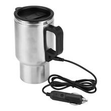 Adapter Thermos-Bottle Car-Water-Cup Heating 500ml 12V USB Insulation-Cup