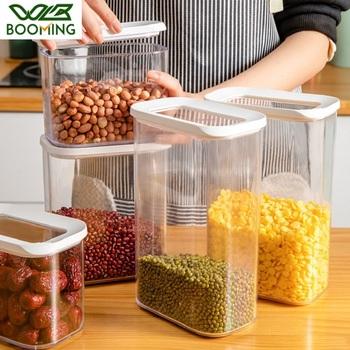 Wbboom kuchnia schowek plastikowe zamknięte puszki pojemnik na jedzenie lodówka organizuj pudełko zachowaj świeży nowy przezroczysty pojemnik z pokrywkami tanie i dobre opinie WBBOOMING CN (pochodzenie) Nowoczesne Z tworzywa sztucznego Eco-friendly Healthy W1908275 Kitchen Storage Bottle Food Container