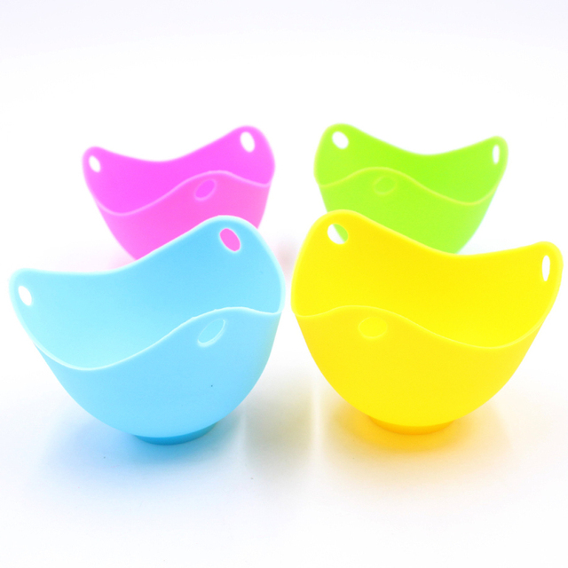 Silicone Egg Poacher Poaching Pods Egg Mold Bowl Rings Cooker Boiler Cuit Oeuf Dur Kitchen Cooking Tools Pancake Maker