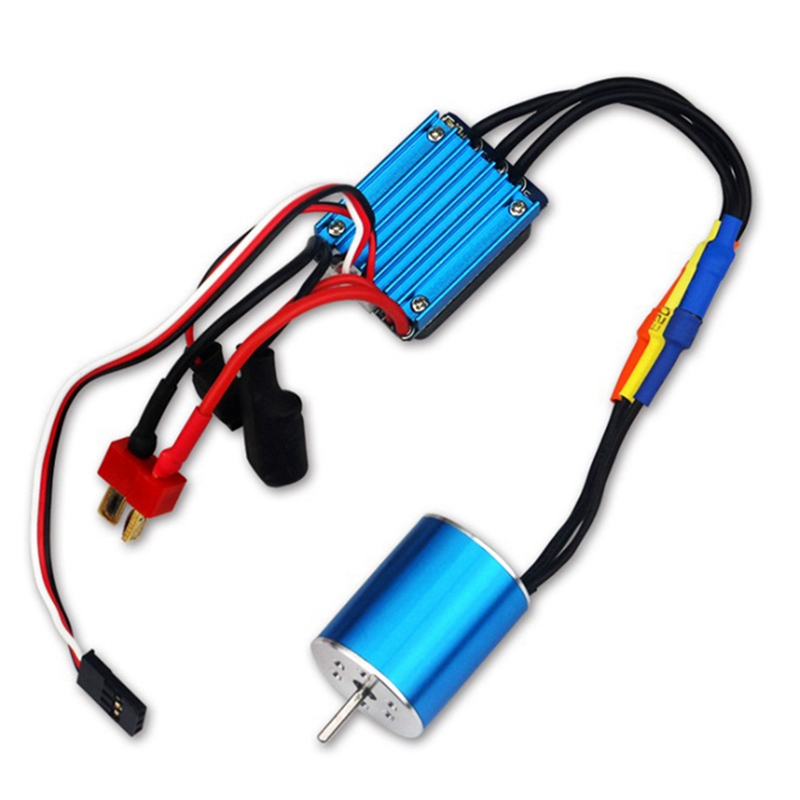 2430 5800KV Motor & 25A Brushless ESC for 1/18 1/16 HSP Redcat Traxxas HPI <font><b>Tamiya</b></font> RC On-Road Off-Road Car SCT Truck image