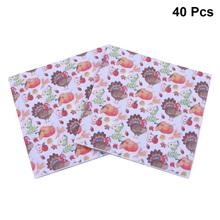 40 sztuk święto dziękczynienia drukowane serwetki Cartoon turcja tkanki papierowych do obiadu ręcznik zaopatrzenie firm (wzór 1) tanie tanio AE (pochodzenie) Z tworzywa sztucznego