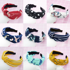 Top Knot Turban Twist Hairband Retro Elastic Hair Hoop Headwrap Headband for Women Print Headdress Accessories