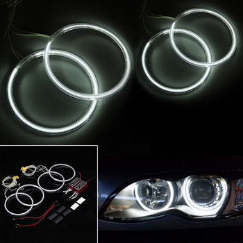 A Set CCFL Angel Eyes Halo Rings Day Light Bulbs Lamps Kit For BMW E30 E32 E34 E39 3 5 7 Series Car Styling image