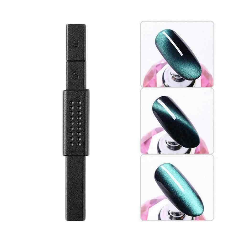 3d olho de gato ímã da arte do prego vara efeito magnético forte placa magnética pintura diy design gel unha polonês caneta manicure ferramentas