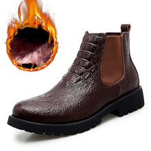 Winter Shoes Sneakers Snow-Boots Office Men's Genuine-Leather Warm Fur Handmade Breathable