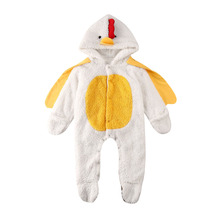 Baby Cartoon Romper Newborn Baby Girl Boy Fancy Clothes Turkey Costume Hooded Outfits 0-24M Baby Clothes new arrival party girl baby romper clothes embroidery turkey pattern ruffle newborn clothes matching boy romper gpf803 115