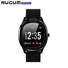 ECG + PPG อุณหภูมิ Monitor Heart Rate ความดันโลหิต IP68 กันน้ำสมาร์ทนาฬิกาออกกำลังกาย Tracker RUGUM T01 กีฬานาฬิกาข้อมือ