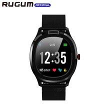 Monitor temperatury ekg + PPG tętno ciśnienie krwi IP68 wodoodporny inteligentny monitor aktywności fizycznej w zegarku sportowy zegarek RUGUM T01