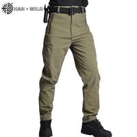 HAN WILD Men Hiking Pants Trekking Fishing Camping Climb Run Trousers Waterproof Outdoor Pants Windproof 4XL Breathable