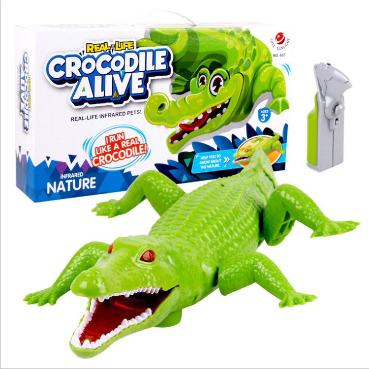 Model Infrared Remote Control Crocodile Trick Scary Strange New Animal Model Electric Toys Electronic Pet