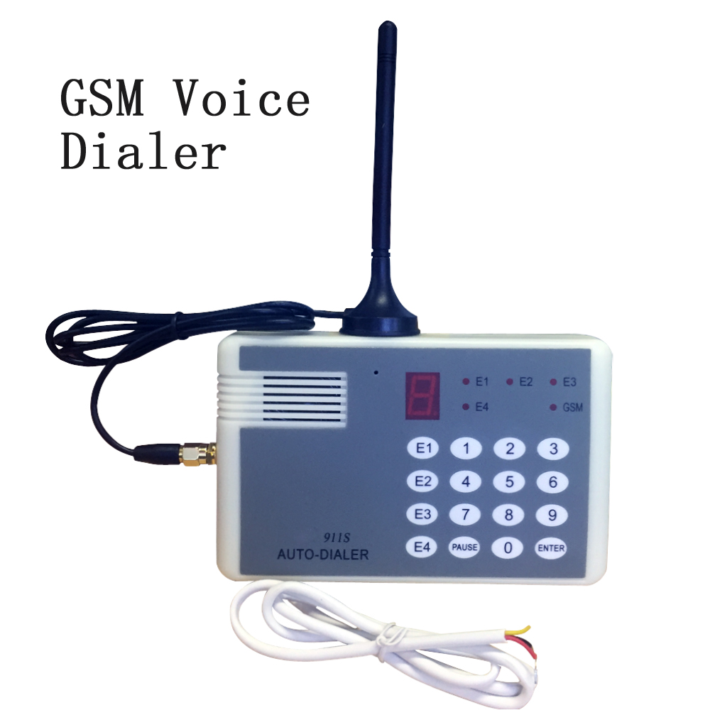 New 911S GSM Voice Dialer SIM Card 850/900/1800/1900MHz Emergency Call Terminal Use Alarm System Smart Home PIR Smoke Detector