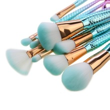 10pc Make Up Foundation Eyebrow Eyeliner Blush Brush Mermaid Makeup Cosmetic Concealer Tool