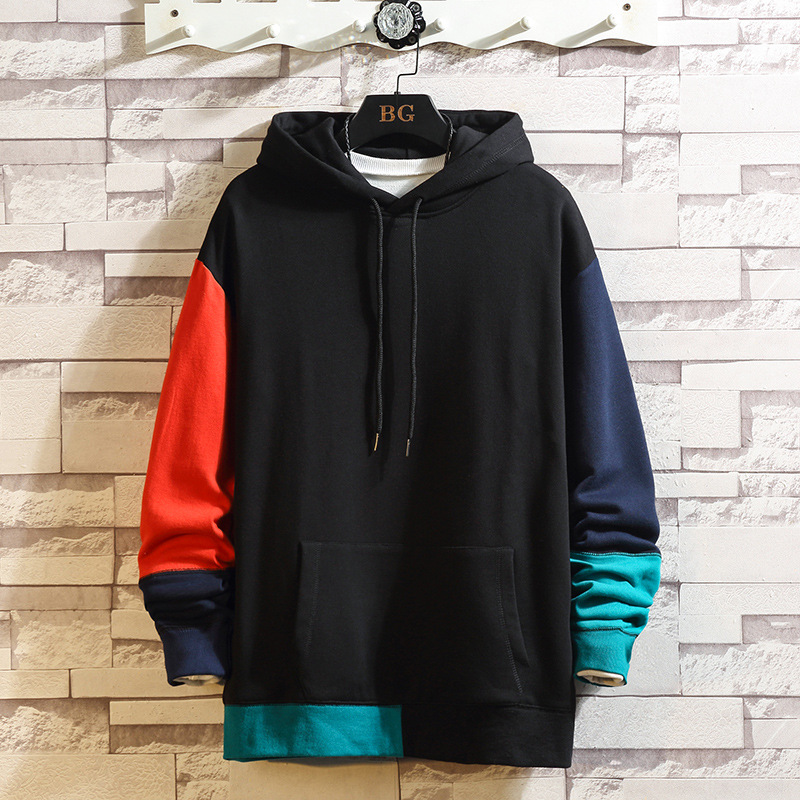 Hoodies Men Sweatshirts Brand Clothing New Arrival Patchwork Hoodie Men  Tracksuit
