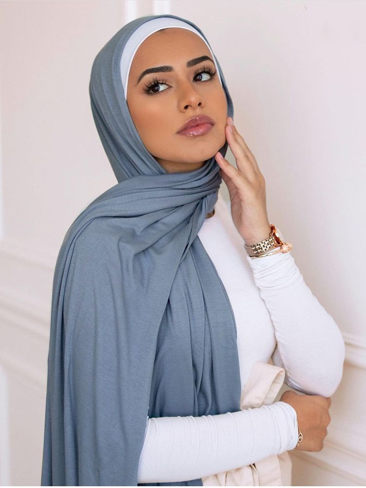 80*180cm Hijab Jersey 2021 Maxi Big Size Scarf For Muslim Women Headscarf Ladies Headwraps