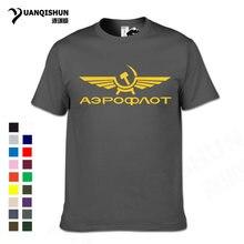 Aeroflot – T-shirt en coton pour hommes, 16 couleurs, CCCP, impression d'aviation civile, de l'armée de l'air de russie, de qualité supérieure, 3xl