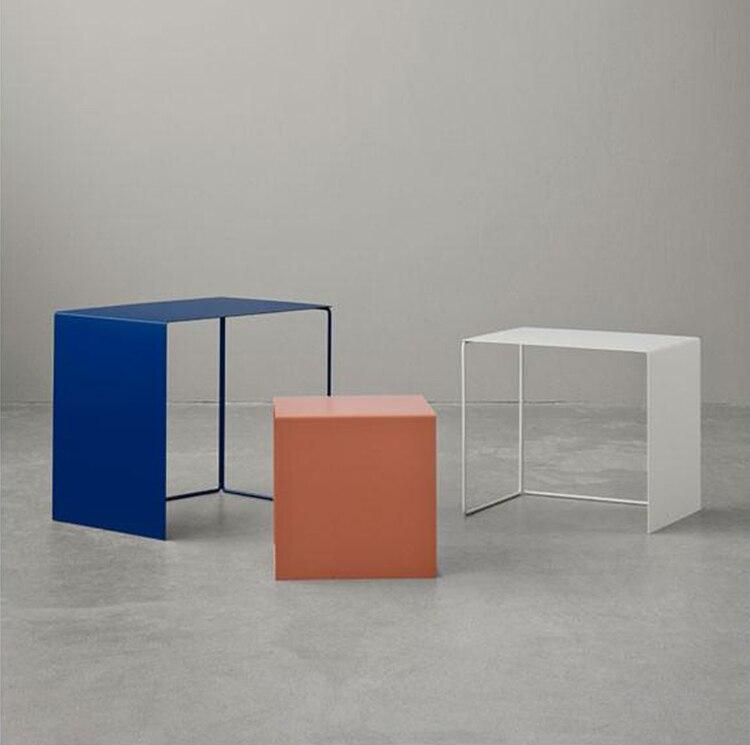 Simple Tea Table, Modern Nordic Iron Edge, Corner, Combination, Designer, Creative Personality, Mini 2019 New