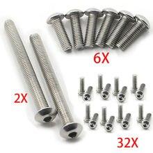 Kit de parafusos de carenagem, 40 peças, 3 tamanhos, aço inoxidável, parafusos para bmw r1100t 96 - 01 r1100 t/r 1100 t 1997 1998 1999 2000
