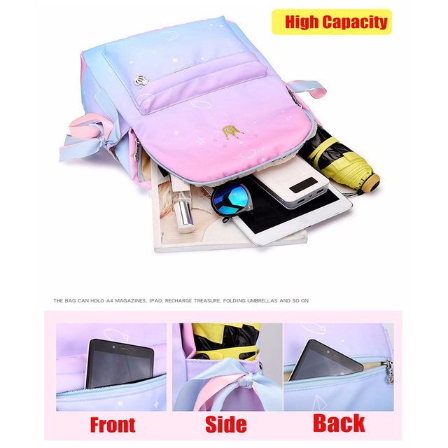 Orthopedic Backpack School Children Schoolbags For Girls Primary Book Bag Printing 5