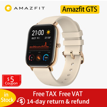 цена на New Amazfit GTS Global Version Smart Watch Huami Outdoor GPS Positioning Running Heart Rate 5ATM Waterproof Smartwatch
