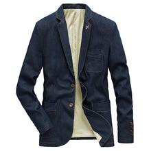 New Fashion Denim Jacket Men Suits Collar Business Coat Male Brand Clothing Spring Autumn Suit Blazer Men's Jean Jackets   MY189