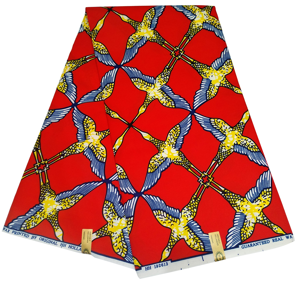 Polyester Ankara African Printed Fabric  Real Dutch Wax Africa Cloth Sewing Material For Party Dress 6yards Z621