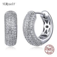 Великолепные серьги кольца из настоящего серебра диаметром 16