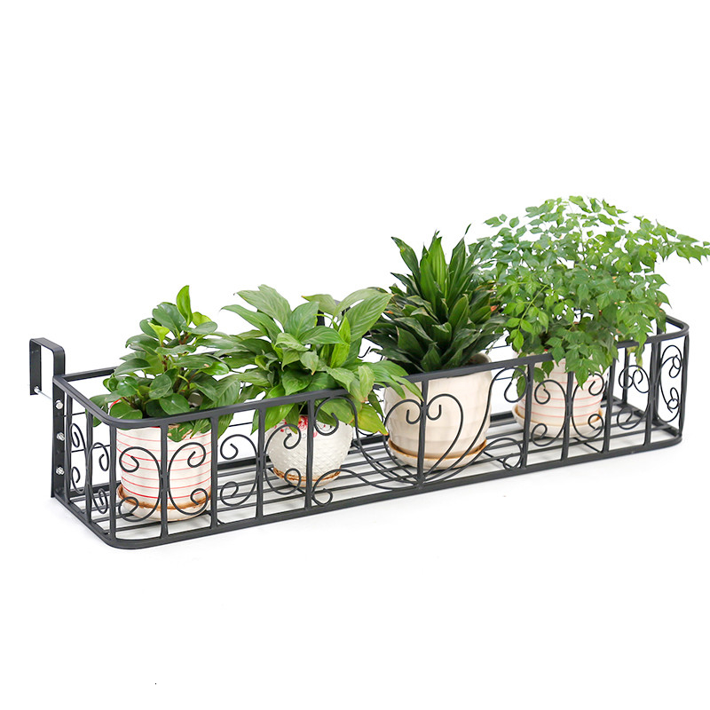 Wall Hanging Type Windowsill Flower Rack Outdoor Guardrail Hanging Type  Grow Vegetables Plant Frame