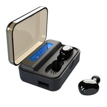 S590 Wireless Earphones  Mini Earbuds Earphone Stereo Earbud Headset Wireless Headphone with charging box power bank