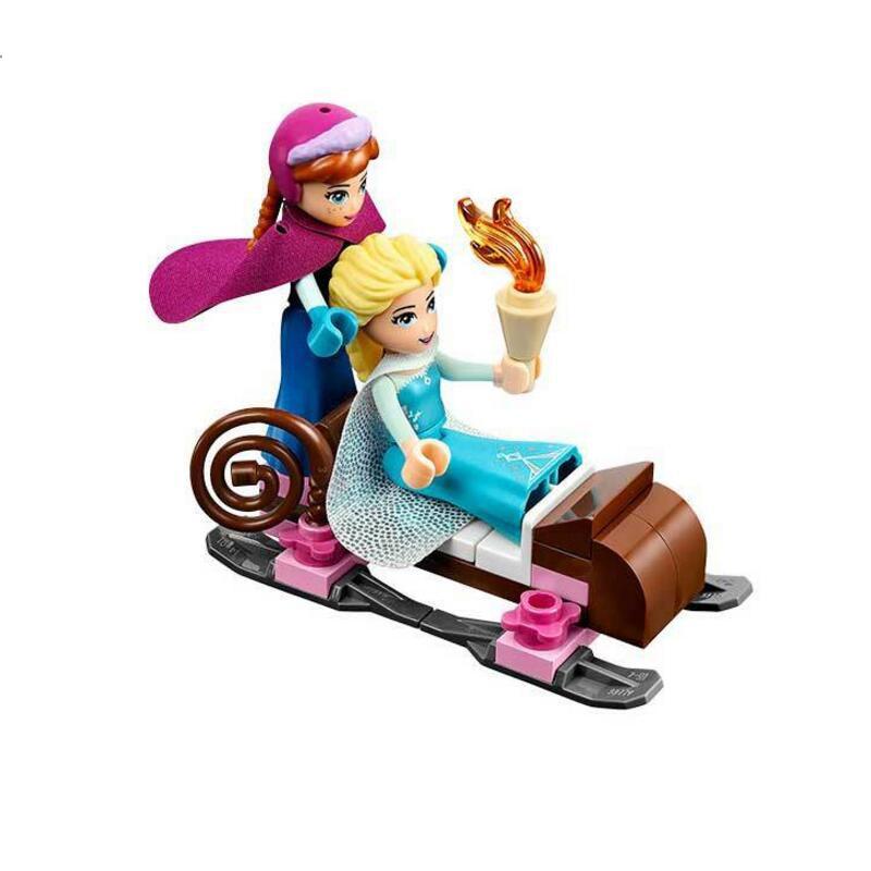Image 2 - 316pcs Dream Princess Castle Elsa Ice Castle Princess Anna Set Model Building Blocks Gifts Toys Compatible Legoinglys Friends-in Blocks from Toys & Hobbies