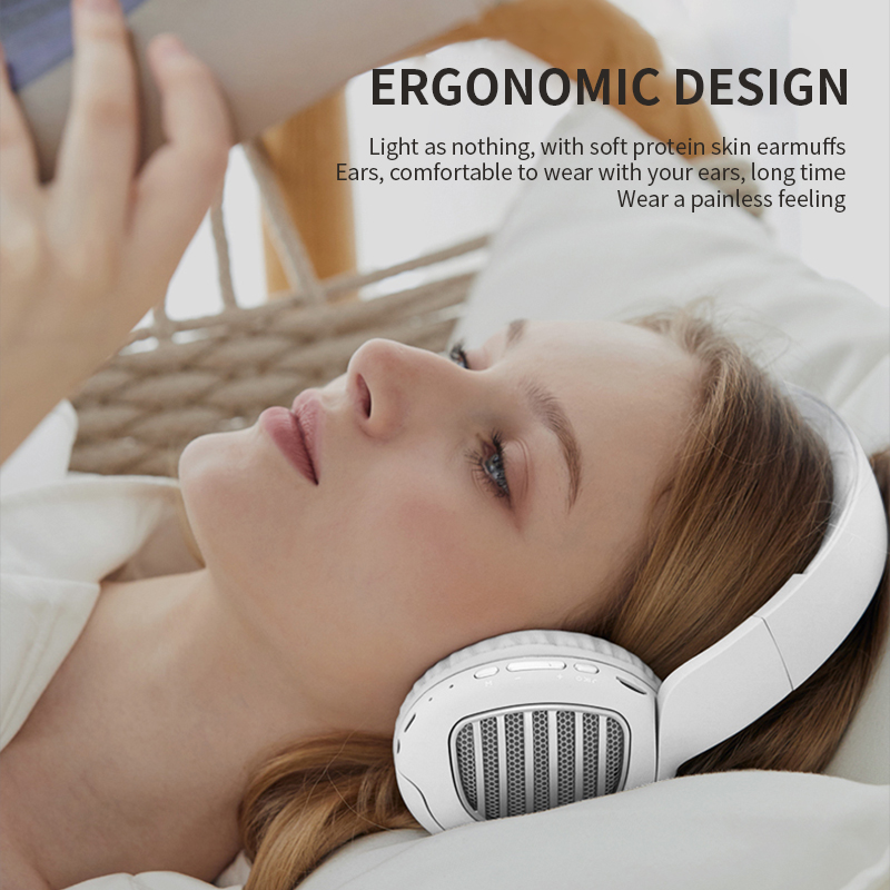 BT031 Newest Design Bluetooth 5.0 Headphone Setereo Arround Softly Fold Bluetooth Headset With FM 3.5mm Jack TF card