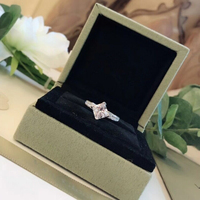 100% Real 925 Sterling Silver Square Diamond Ring S925 Pure Silver Platinum Plated Women Luxury Wedding Engagement Promise Rings