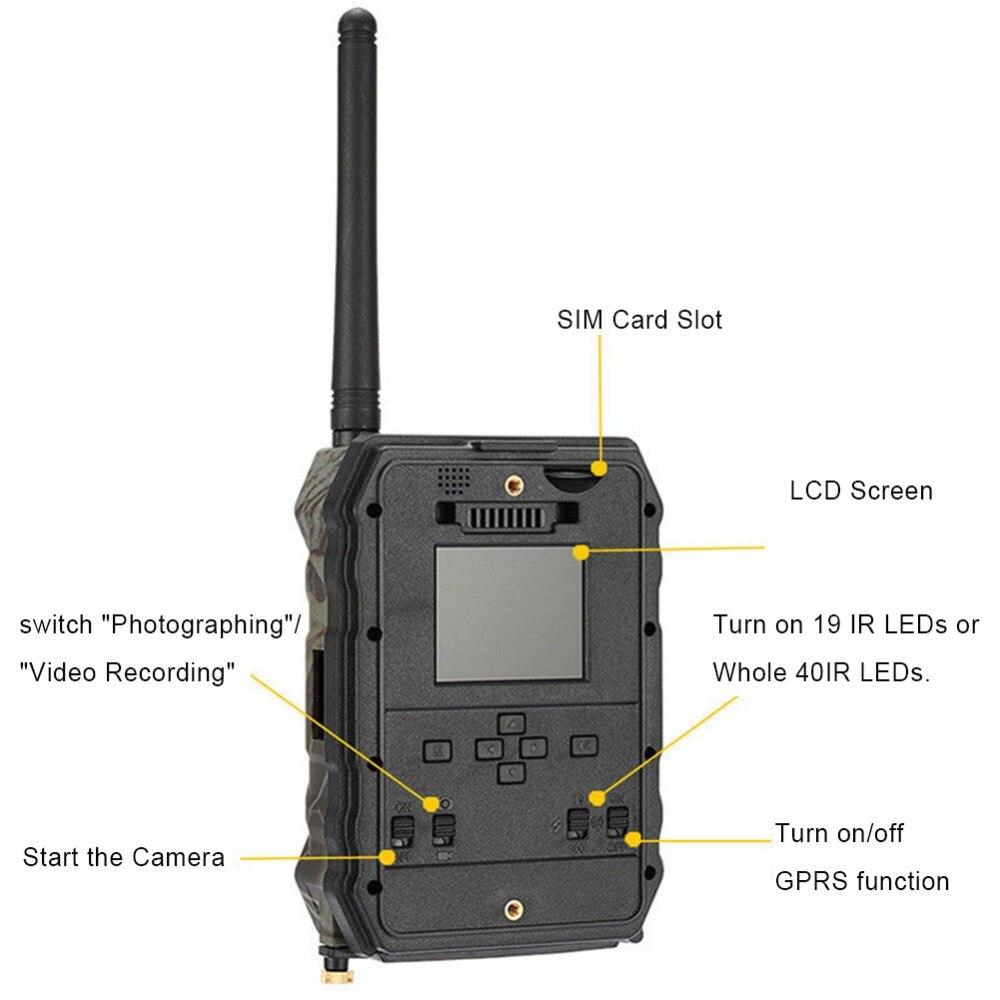 12mp hd1080p rastreamento câmera com mms gprs