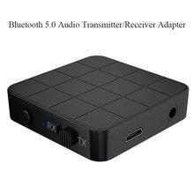 KN321 Aux Bluetooth 5.0 Audio émetteur récepteur USB Dongle musique stéréo sans fil adaptateur 2 in1 Adaptation TV ordinateur haut-parleur