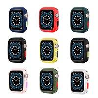 Funda protectora para Apple Watch serie 5 4 3 Se 6, accesorio para carcasa de reloj Apple, 44mm, 40mm, 42mm, 38mm