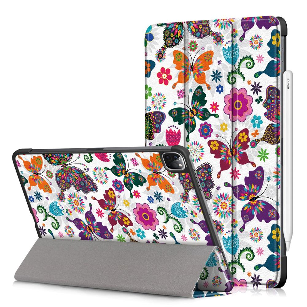E Gold PU Leather Foldable Stand Case for iPad Pro 11 2020 Case Cover for Apple iPad Pro