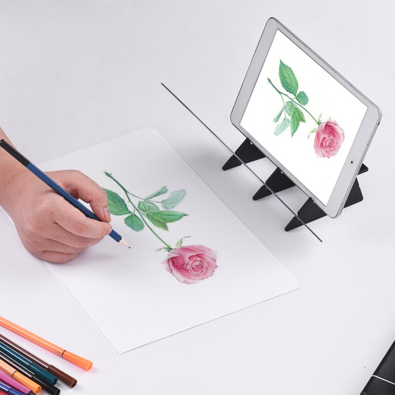 Optical Kid Drawing Panel Tracing Board Copy Pad Crafts Portable Zero-based Painting Mould Anime Sketch Art Tool Toy Gift