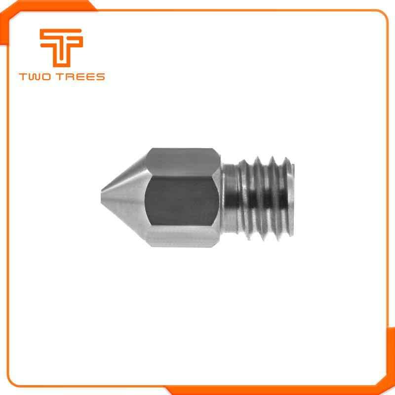 Dua Pohon MK8 Nozzle 0.2 0.3 0.4 0.5 0.6 Mm M6 Ulir Stainless Steel untuk 1.75 Mm Filamen untuk CR10 CR-10S Ender 3 Printer