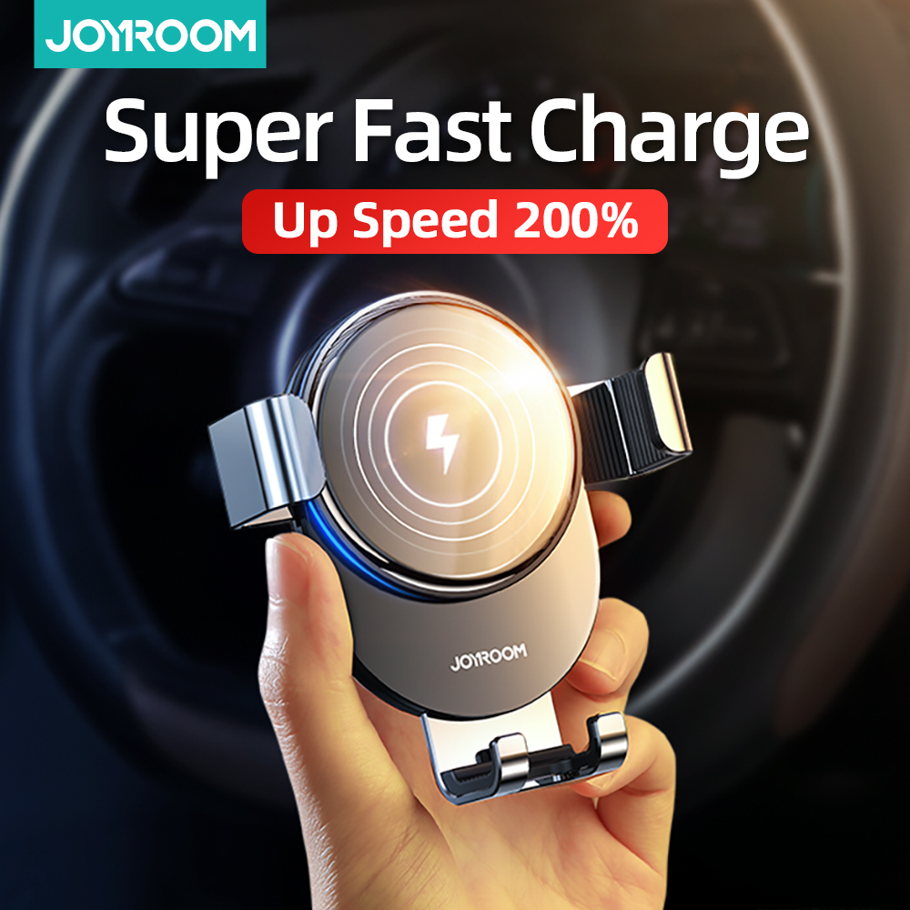 Joyroom 15W Wireless Charger Car Mount for Air Vent Mount Car Phone Holder Intelligent Infrared Fast Wireless Charging Charger